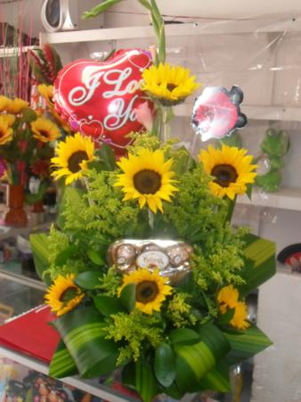 GIRASOLES CON CHOCOLATE