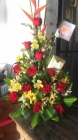 Rosas rojas con chocolate