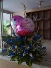 arreglo de rosas azules