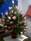 arreglo en rosas (redondo)